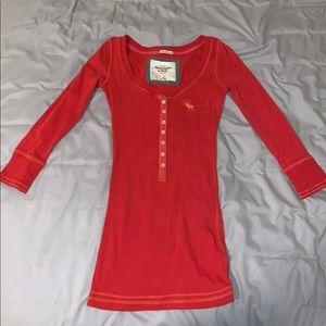 Abercrombie quarter sleeve shirt